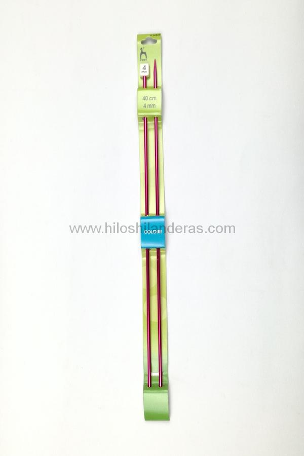 Agujas tricot rectas Pony 25mm