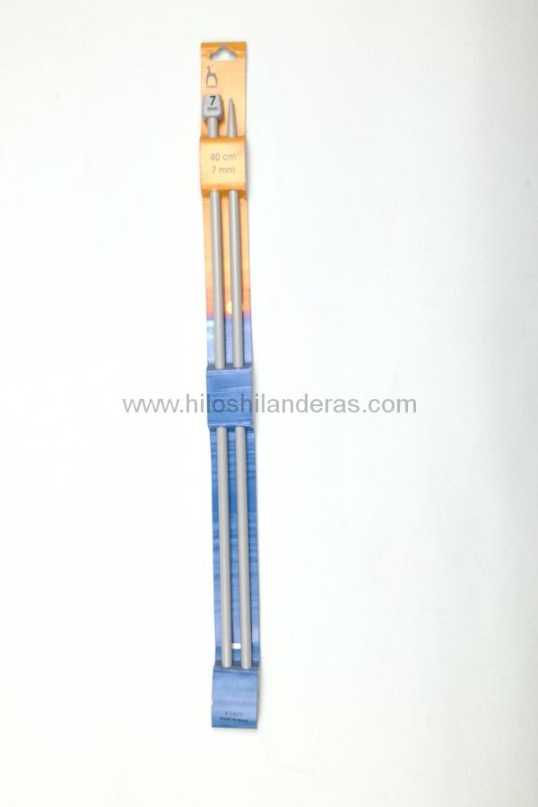 Agujas tricot rectas Pony 7mm