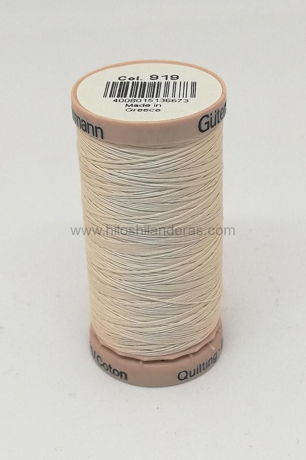 Hilo quilting para patchwork 200m Gutermann color beige