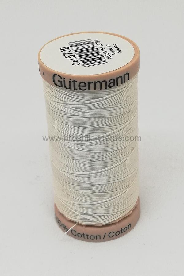 Hilo quilting para patchwork 200m Gutermann color blanco