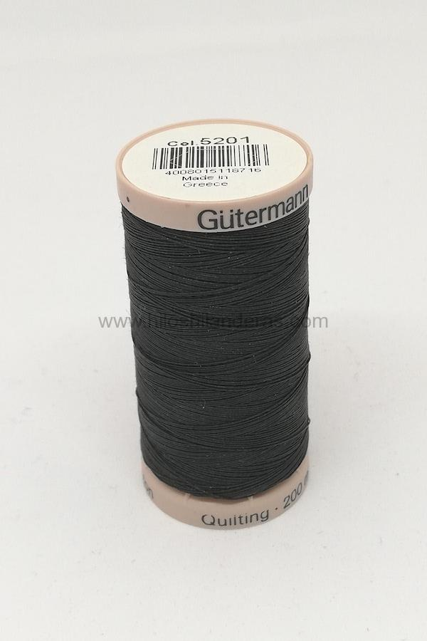 Hilo quilting para patchwork 200m Gutermann color negro