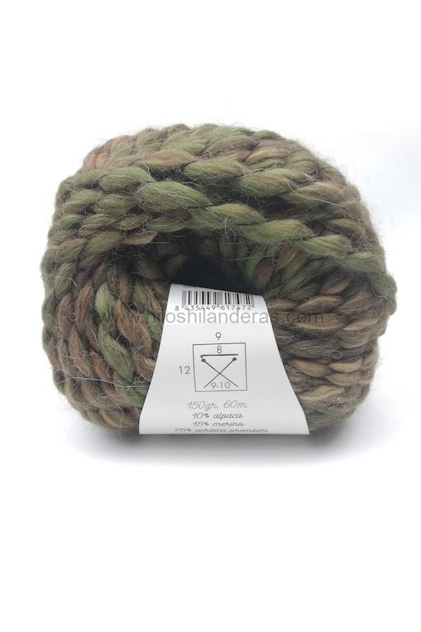 Madeja de lana Rubí Alpaca Power 150 gr Standard 100 by Oeko-Tex color verde