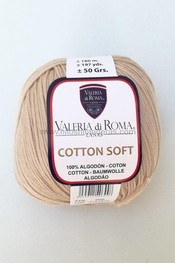 Ovillo de algodón de Valeria di Roma 50g mod. Cotton Soft color beige