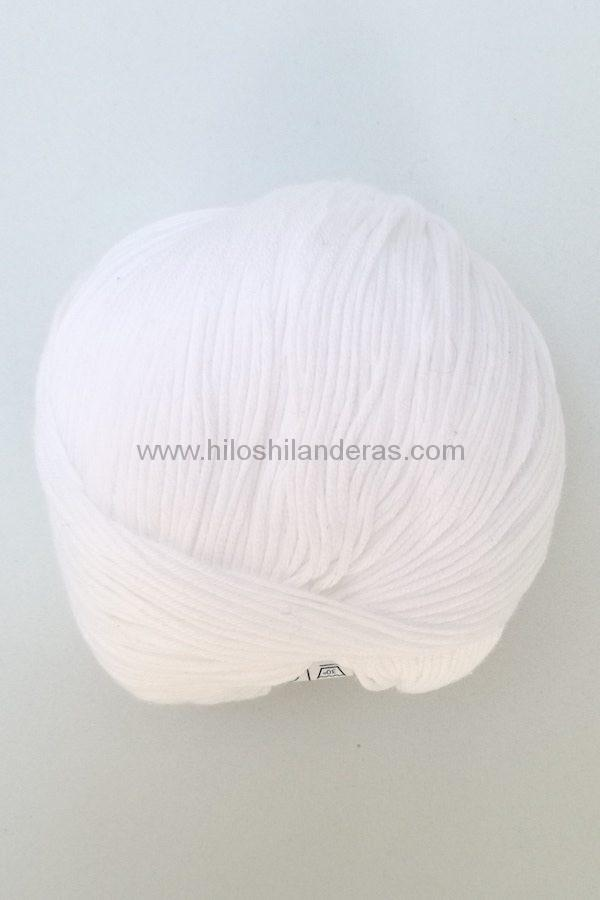 Ovillo de algodón de Valeria di Roma 50g mod. Cotton Soft color blanco