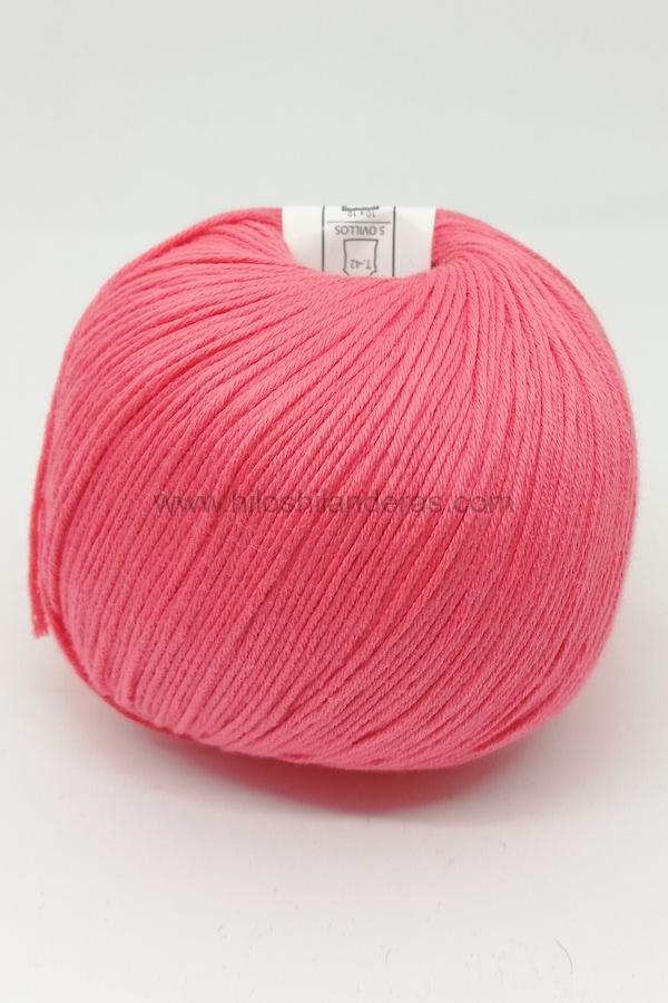 Ovillo de algodón de Valeria di Roma 50g mod. Cotton Soft color coral