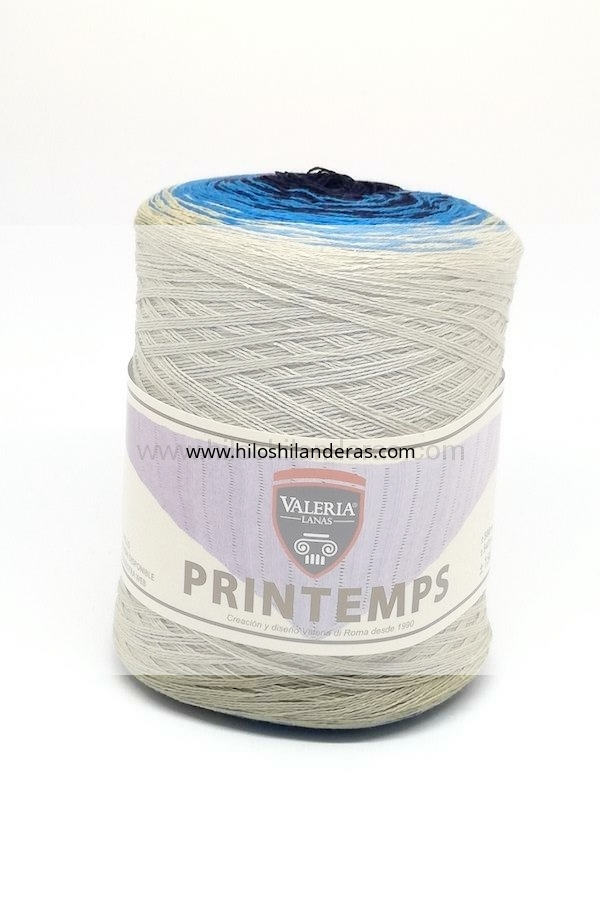 Ovillo de hebra degradada Valeria di Roma 150 gr para agujas 4,5- 5 mm Printemps color beige