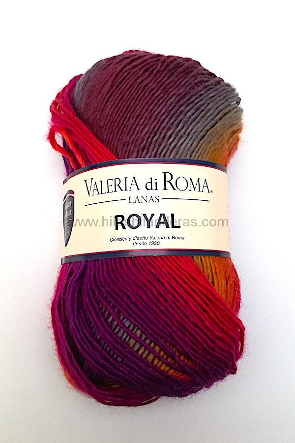 Madeja de lana Valeria di Roma 100 grs 4.5-5 mm grosor mod. Royal color morado