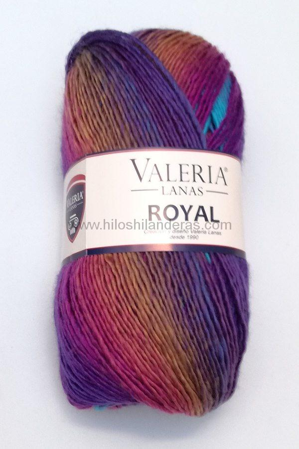 Madeja de lana Valeria di Roma 100 grs 4.5-5 mm grosor mod. Royal color Turquesa