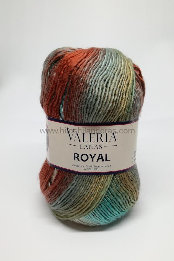 Madeja de lana Valeria di Roma 100 grs 4.5-5 mm grosor mod. Royal color verde